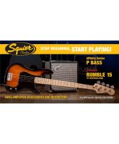 Fender Squier Affinity Precision Bass Brown Sunburst 2015 Rumble 15