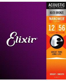 Elixir Nanoweb Acoustic 80/20 Light-Medium