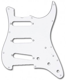 Fender 60s Era Strat Pickguard '62 White