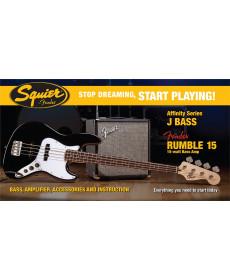 Fender Squier Affinity Jazz Bass Black