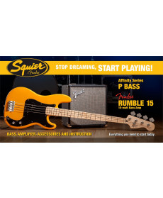 Fender Squier Affinity Precision Bass Butterscotch Blonde 2015 Rumble 15