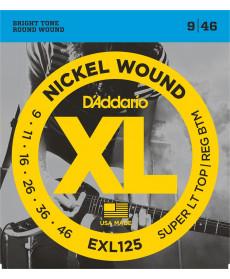 Daddario EXL125 Super Light Top/ Regular Bottom