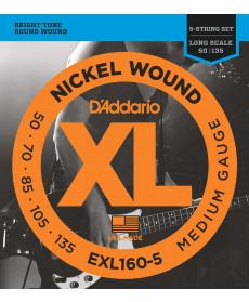Daddario EXL160-5 Medium Long Scale