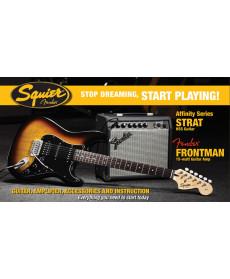 Fender Pack Affinity Strat HSS BSB com Frontman 15G