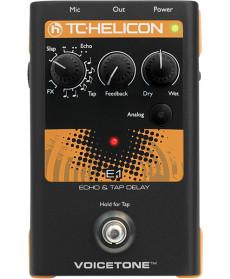 TC Helicon Voicetone E1 Echo Tap Delay