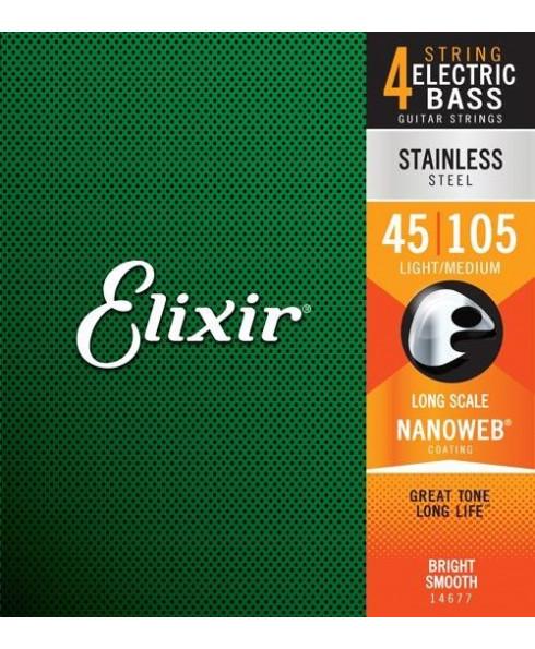 Elixir Stainless Steel Light/Medium Bass