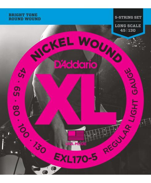 Daddario EXL170-5 Light Long Scale