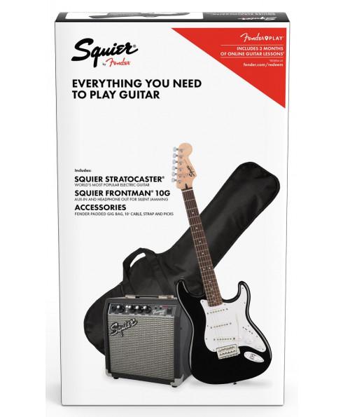 Fender SQ Strat Pack SSS BLK com Frontman 10G