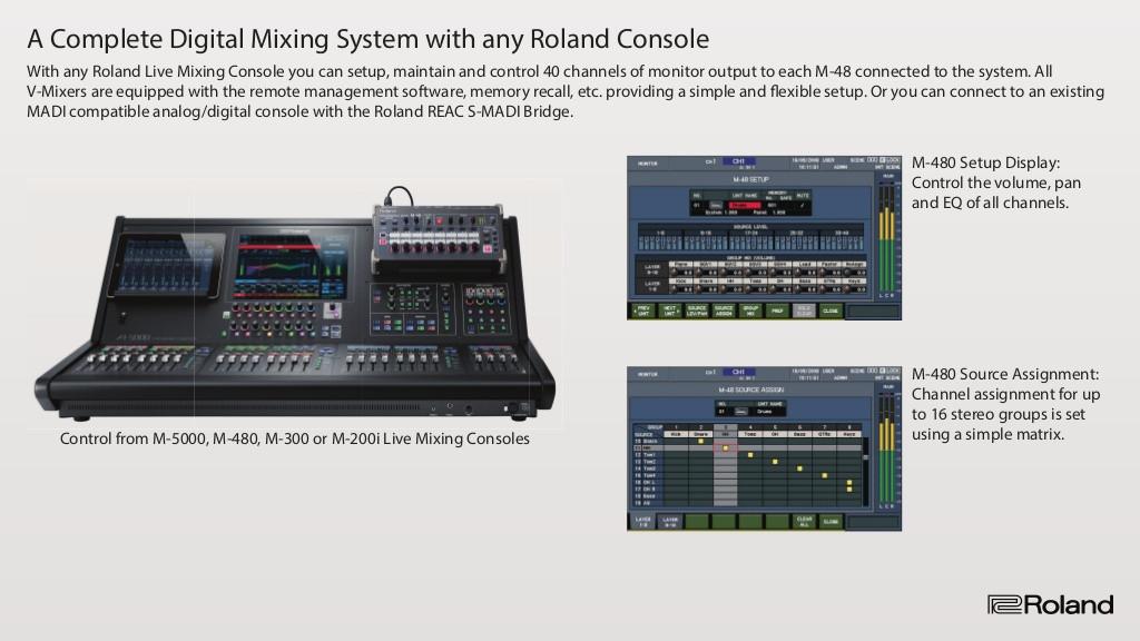 Roland M-48 RSS - Mesas Não Amplificadas - Mesas de Mistura