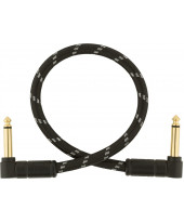 Fender Deluxe Instrument Cable Black Tweed 0,3 m