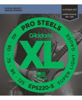 Daddario EPS220-5 Super Light Long Scale