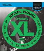 Daddario EXL220-5 Super Light Long Scale