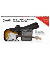 Fender SQ Strat Pack SSS BSB com Frontman 10G