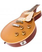 Vintage V100 ReIssued Electric Guitar Gold Top