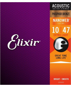 Elixir Nanoweb Extra Light Phosphor Bronze