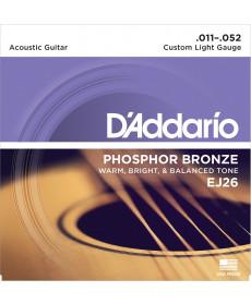Daddario EJ26 Phosphor Bronze Custom Light
