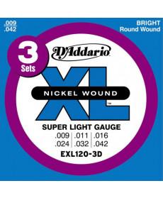 Daddario EXL120-3D Super Light