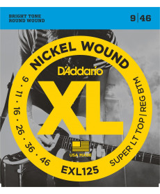 Daddario EXL125 Super Light Top/ Regular Bottom