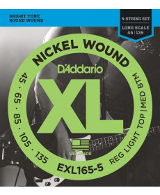 Daddario EXL165-5 Custom Light Long Scale