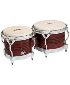 Latin Percussion Matador M201 Bongos Dark Brown/Chrome Hardware