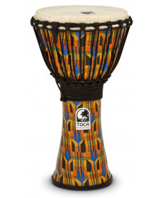 "Toca SFDJ-10K 10"" Freestyle Djembe Kente Cloth"