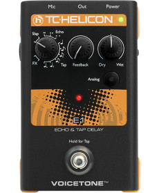 TC Helicon Voicetone E1 Echo Tap Delay