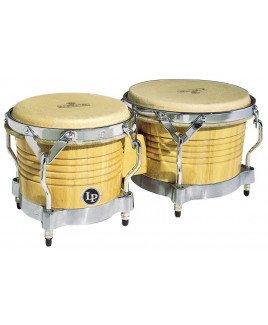 Latin Percussion Matador M201-AWC Bongos Natural/Chrome Hardware