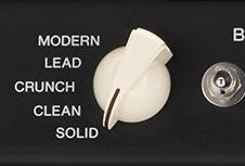 Cinco amps ao rodar um botão
